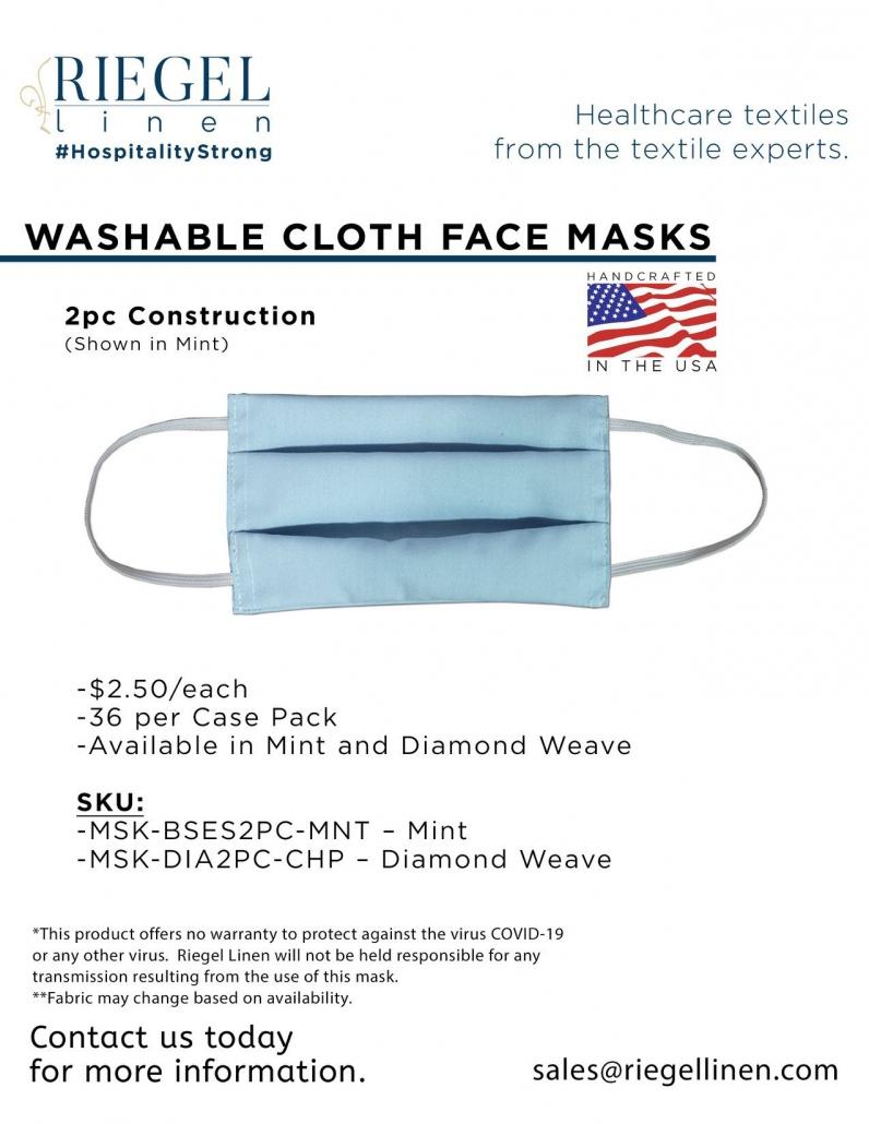 Riegel Linen 2-piece face mask