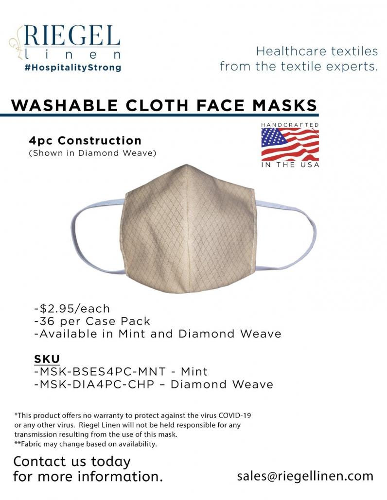 Riegel Linen 4-piece face mask